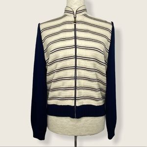 St. John Collection Zip Cardigan Size 4